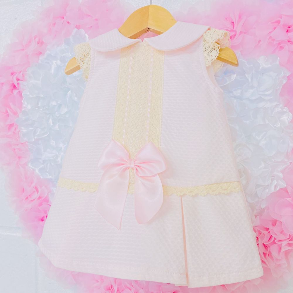 *SALE* Stunning Wee Me Baby Girl Pink Spanish Dress Lace Front